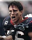 Brian Cushing Autographed Houston Texans 8x10 Bloody Photo White JSA