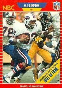 O.J. Simpson Football Card (Buffalo Bills) 1989 Pro Set #29