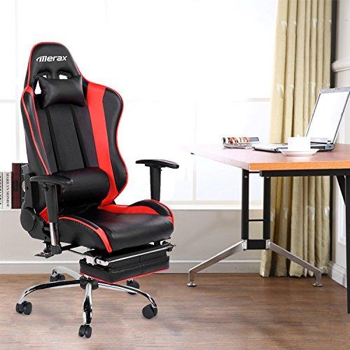 Merax Racing Style High Back Gaming Chair Ergonomic Design Office Chair Swive