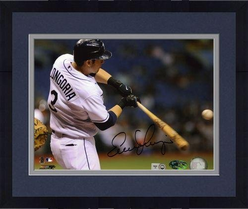 """Framed Evan Longoria Tampa Bay Rays Autographed 8"""" x 10"""" Swinging Photograph - Fanatics Authentic Certified"""