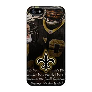 LavernaCooney Iphone 5/5s Scratch Resistant Hard Phone Case Support Personal Customs Trendy New Orleans Saints Skin [duw7976buYP]
