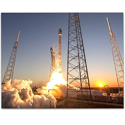 Spacex Rocket Launch   11X14 Unframed Art Print   Great Gift For Space Lovers Geeks