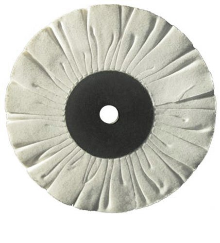 6-Inch Diameter 1-1//2-Inch Core 1//2-Inch Arbor Hole Soft White Divine Brothers 310000AG 15 Ply Fray Ryte Cotton Buff