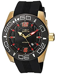 Invicta Men's 'Aviator' Automatic Stainless Steel and Silicone Casual Watch, Color:Black (Model: 23531)