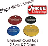 Round Pet ID Tags | 8 Colors Available | Dog Cat Aluminum, My Pet Supplies