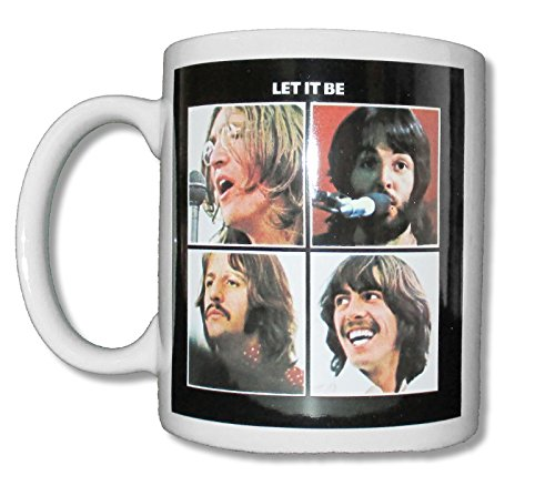 Beatles Let It Be White Ceramic Collectible Coffee
