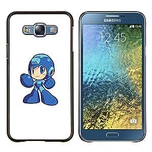 Qstar Arte & diseño plástico duro Fundas Cover Cubre Hard Case Cover para Samsung Galaxy E7 E700 (Metr0id héroe)
