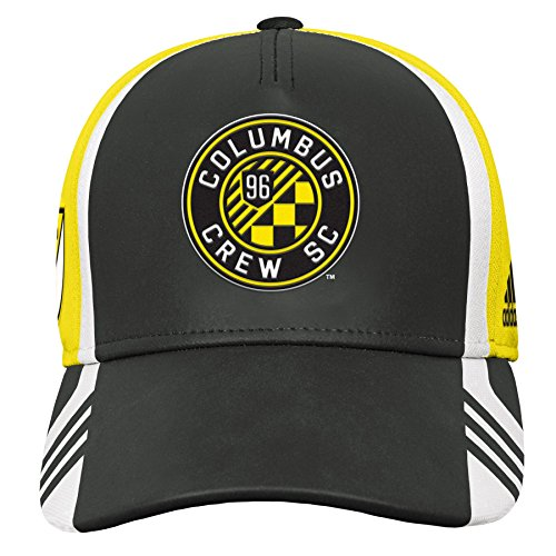 (Outerstuff MLS Columbus Crew Boys Structured Adjustable Hat, Sun, One Size (8))