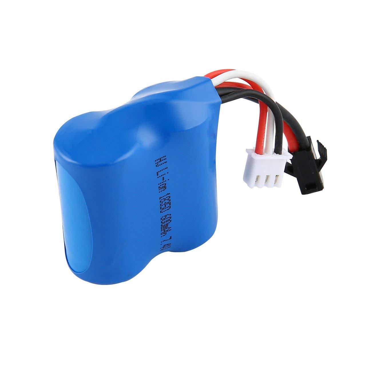 Ballylelly Batterie Li-ION pour Bateau RC 7.4V 600mAh pour Bateau RC Skytech H100 H102 H106 Syma Q2 Q3 de