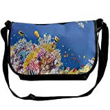 Lovebbag Colorful Underwater World With Corals And Tropical Fish Exotic Diving Travel Crossbody Messenger Bag