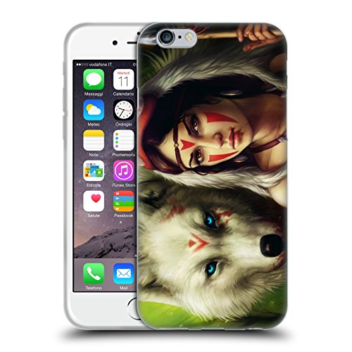 "Officiel Jonas ""jojoesart"" Jödicke Princesse Mononoke Fiction Étui Coque en Gel molle pour Apple iPhone 6 / 6s"