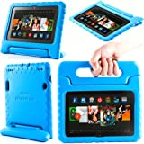 i-Blason ArmorBox Kido Series for Amazon Kindle Fire HDX 7 Inch Tablet [Not Compatible with Kindle Fire HD 7] Light Weight Super Protection Convertiable Stand Cover Case Kids Friendly (Blue)