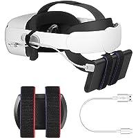 Esimen Power Bank Battery Strap for Oculus Quest 2 Adjustable Elite Strap Fixing on VR Headset Strap Compatible Multiple…