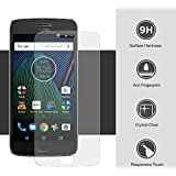 Annant Full Screen 0.3mm Pro+ Edge To Edge Coverage 2.5D Curved 3D Tempered Glass With Packaging Kit For Motorola Moto G5s Plus - (Transparent)