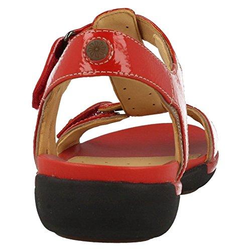 Clarks Un Voshell - Sandalias de Vestir de cuero mujer Red