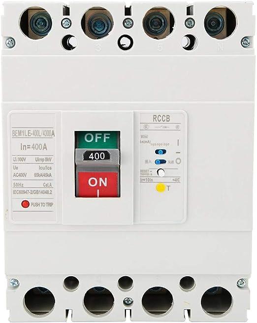 N bo/îtier moul/é disjoncteur de courant r/ésiduel RCCB disjoncteur de fuite 400A idalinya 3P