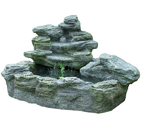 Brunnen mysteriöser Springbrunnen mit Beleuchtung Gartenbrunnen Felsenbrunnen