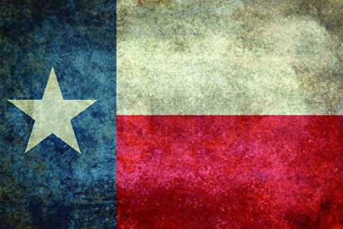 Texas Flag vintage metal sign (Flag Vintage Metal)