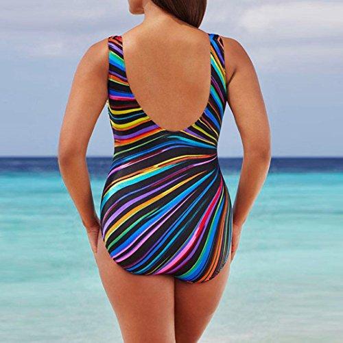 Multicolore Costumi Da costume Alta Mare Size Plus Bikini Costume Ragazza Donna Intero Up Spiaggia ❤️ Vita Push Bagno Beautyjourney Pezzi ZEwv7aHqx