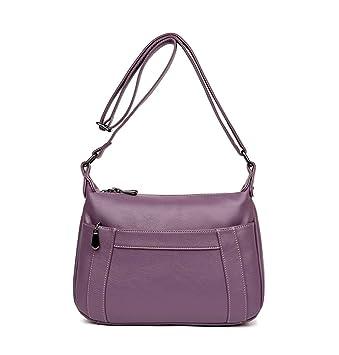DEERWORD Bolsos para mujer Shoppers y bolsos de hombro Bolsos bandolera Carteras de mano con asa Púrpura: Amazon.es: Equipaje