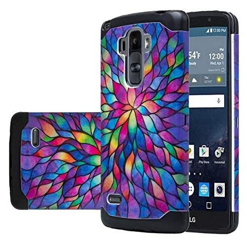 LG Vista 2 Case, LG Stylo Case, LG G VISTA 2 Hybrid Dual Layer Armor Defender Protective Case Cover [Shock Absorption / Impact Resistant] for LG G Stylo / G Vista 2, Rainbow Hybrid (Color Lg Vista G Case)