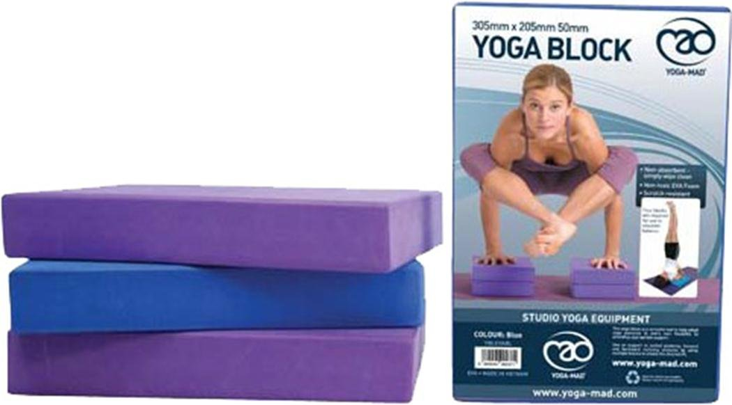 yoga-madブロックで毒性Evaフォームフィットネストレーニングヨガスタジオピラティスクッション  パープル B01J7ONBPK