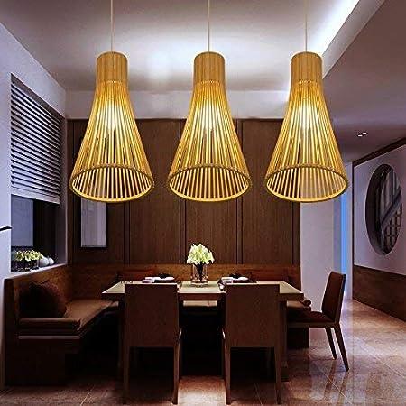 ZHYZN Bambú, Colgantes Originales, Luces de Techo para el salón ...
