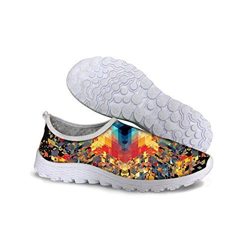Voor Jou Ontwerpen Vintage Dames Ademende Mesh Sneaker Hardloopschoenen Multi 1