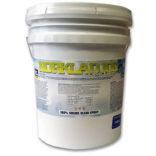 - Norklad 100-M/100% Solids Clear Coat Epoxy/3 Gallon Kit (350+ sq/ft)