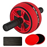LiKee Ab Wheel Roller, Core Training Roller Abdominal Workout Equipment Exercise and Fitness Wheel at Home with Knee Pad for Man Woman Gymnastics Home Gym