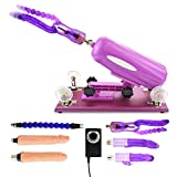 iKenMu Multi-angle Adjustable Automatic Sex Machine With 1 Flexible Extend Tube,5 Dildos For Women Masturbation(US-DZ5)