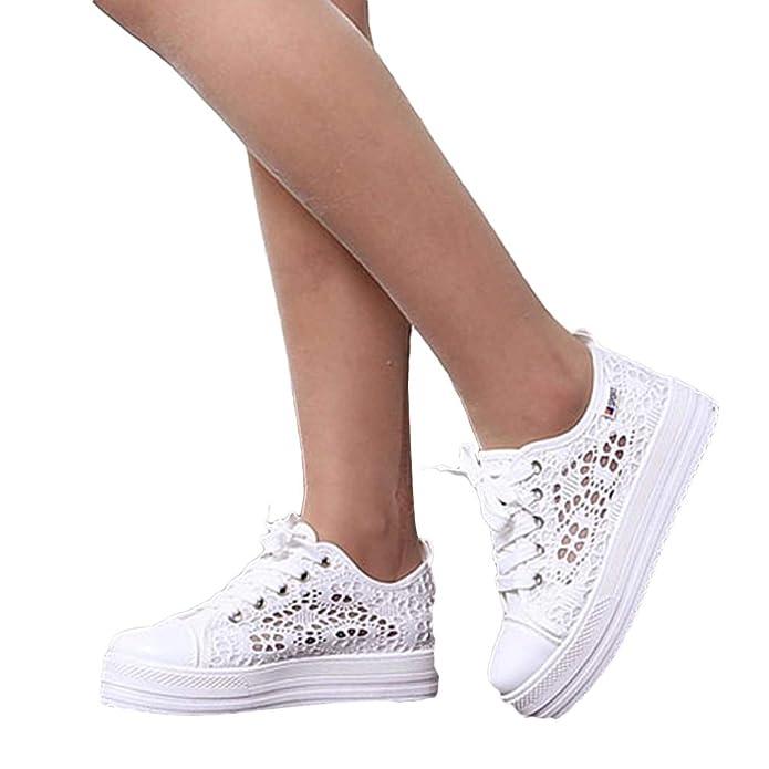 Yying Sneakers Alte da Ginnastica Traspiranti in Mesh Traspirante con Tacco  Alto da Donna 35-41  Amazon.it  Scarpe e borse bf1359f6065