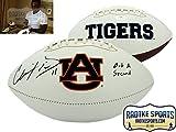 "Chris Davis Jr Autographed/Signed Auburn Tigers Logo Football with ""Got a Second"" Inscription"
