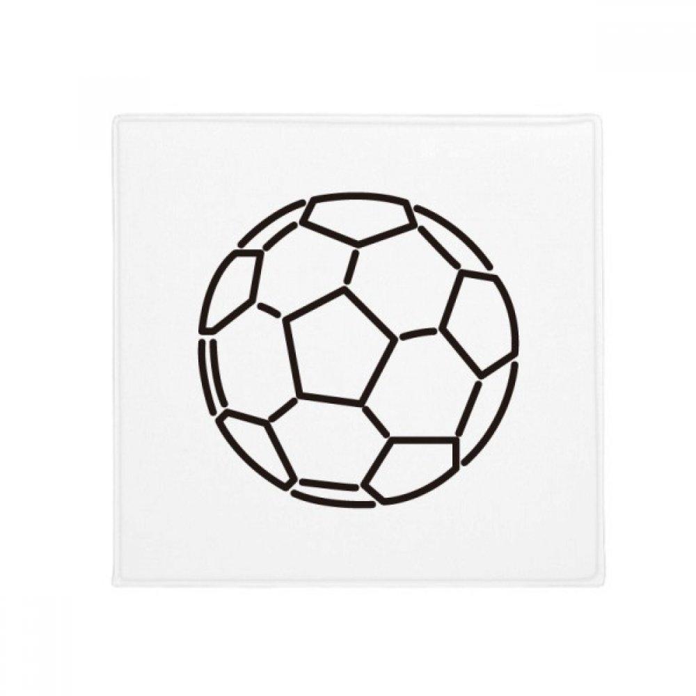 DIYthinker White Black Soccer Football Sports Anti-Slip Floor Pet Mat Square Home Kitchen Door 80Cm Gift