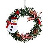 2018!!Garland Xmas Party Decor,Mini Christmas Wreath Wall Door Ornament (B)