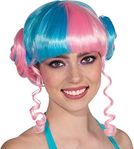 Rubie's Baby Girl Bun Wig, Blue/Pink, One Size