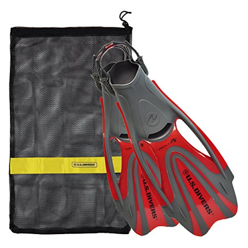 U S  Divers Proflex Fx Fin With Mesh Carrying Bag  Red  Large