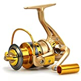 YUMOSHI HF4000 Fishing spinning reel 10 BB gear ratio 5.5:1 Golden Fishing Reel
