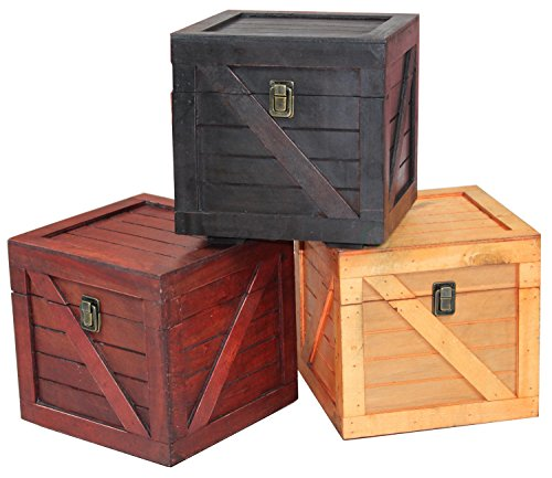 Wooden Stackable Lidded Crate (Set of 3) Review