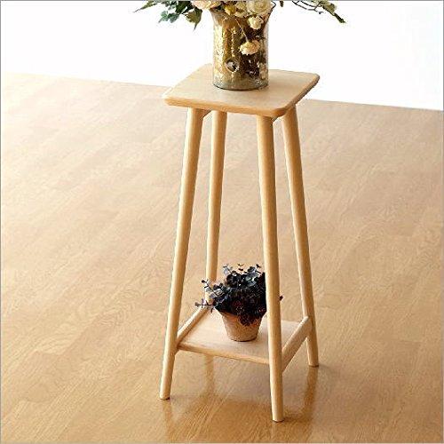 鉢スタンド フラワースタンド ナチュラルウッドの花台ハイタイプ [map4932] B01MTX60MS