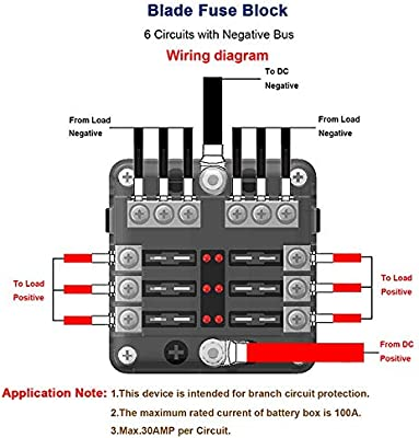 [DIAGRAM_1JK]  Amazon.com: 6 Way Fuse Block Blade Fuse Box Holder, 6 Circuit Car Ato/Atc Fuse  Block Waterproof with 20Pcs Fuse & LED Indicator & Protection Cover for 12V/24V  Automotive Truck Boat Marine Bus | 12 Volt Fuse Block Diagram Wiring Schematic |  | Amazon.com