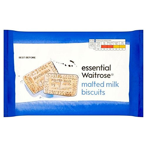 Malted Milk Biscuits essential Waitrose 400g (Pack of 6)