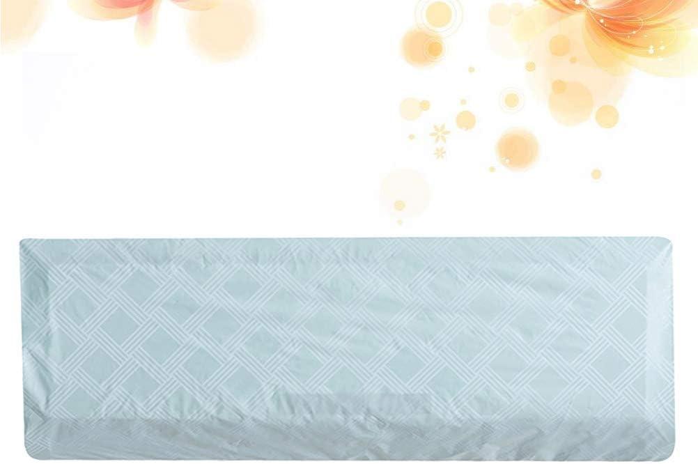 VOSAREA Copertura Antipolvere condizionamento dAria Parete Interna Appeso condizionatore dAria Copertura Antipolvere Protettiva Caso Home Decor Sky Blue