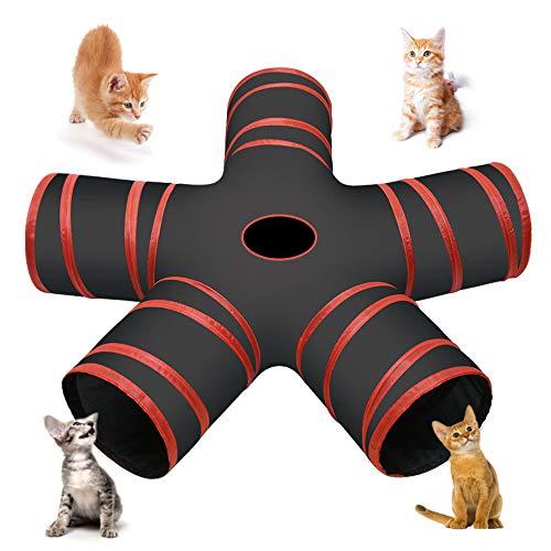 Cozy Vibe Katzenspielzeug Katzentunnel, Katze Spielzeug Hundenspielzeug Spieltunnel 5-Wege Pet Play Tunnel Tube für…