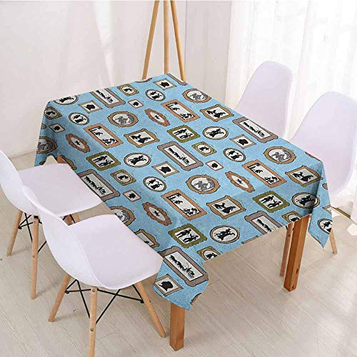 ScottDecor Printed Tablecloth Wrinkle Free Tablecloths W 70