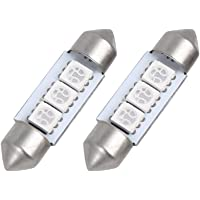 sourcing map 2Pcs 5050SMD 36mm Festón 3 LED