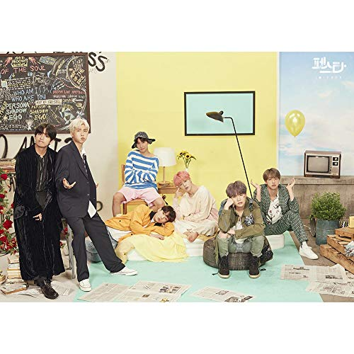 Nuofeng - Kpop BTS New Life Poster Combination A3 Poster Wall Sticker Hanging Paintings for A.R.M.Y 16.5X11.8 inch(H01) ()