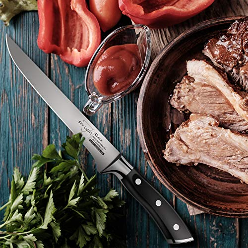 Boning Knife, Flexible Fillet Knives 6 inch for Meat Fish Poultry Chicken Professional Kitchen Knife High Carbon German Stainless Steel Chef Bone Knife