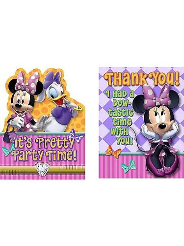 Minnie's Bow-tique Invite & Thank You Combo by Hallmark