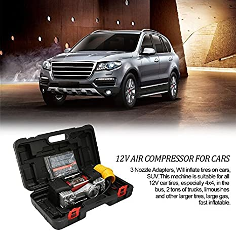 Kit de inflador de neumáticos para coche Swiftswan 12V Compresor de aire portátil con indicador de